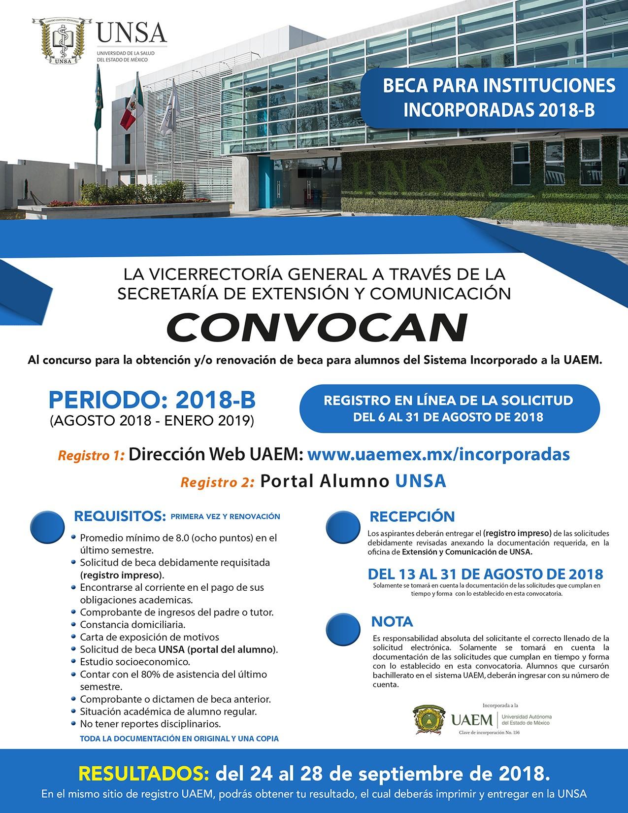 UNSA - Convocatoria Becas 2018 - B